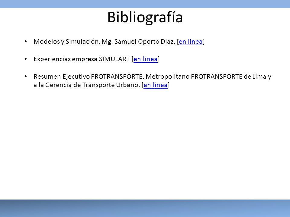 Bibliografía Modelos y Simulación. Mg. Samuel Oporto Diaz. [en linea]
